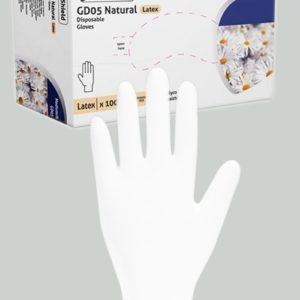 100 gants chirurgicaux en latex blanc Mister B Small