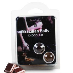 2 Brazilian Balls - chocolat Secret Play