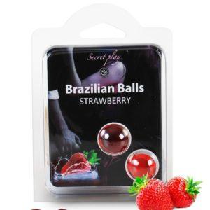 2 Brazilian Balls - fraise Secret Play