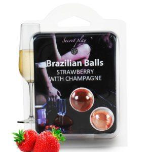 2 Brazilian Balls - fraise & champagne Secret Play