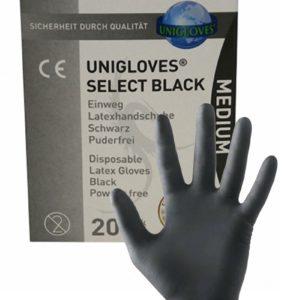 20 gants en latex jetables - Mister B Mister B noir Small
