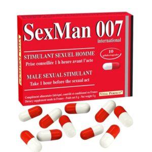 Aphrodisiaque SexMan 007 (10 gélules) Vital Perfect