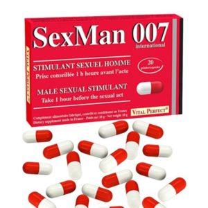 Aphrodisiaque SexMan 007 (20 gélules) Vital Perfect
