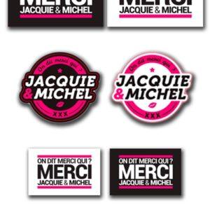 Assortiment 7 stickers J&M Jacquie & Michel