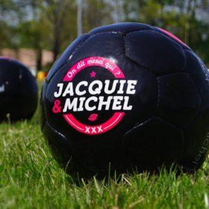 Ballon de foot J&M Jacquie & Michel